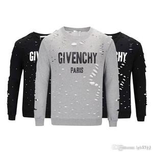 19ss Marka tasarım Yaz Sokak giyim Avrupa Paris Fan Made Moda erkekler Yüksek Kalite Kırık Delik Pamuk Tshirt Casual Kadın Tee giv T-shirt
