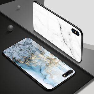 iPhone 11 Pro MAX 8 7 TPU arka kapak için iphone xr Mermer Taş temperli cam Telefon Kılıf için uxury tasarımcı telefon kılıfları