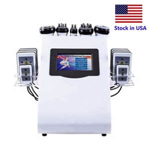 Stock in USA Ultrasuoni Macchina per cavitazione 40K Cavitazione ad ultrasuoni Lipolaser RF Vaccum Dimagrante Perdita di peso perdita di peso Cavi Lipo