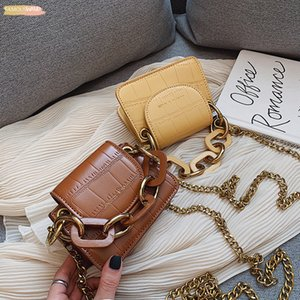 Crocodile Pattern Mini Crossbody Bags For Women 2020 Lady Designer Shoulder Messenger Bags Leather Purses And Handbags