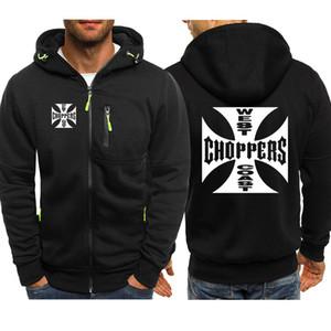 Primavera Autunno Felpa West Coast Choppers Hoodies degli uomini Streetwear Fleece Zipper Hooded Jacket Hip Hop Harajuku Tuta SH190921