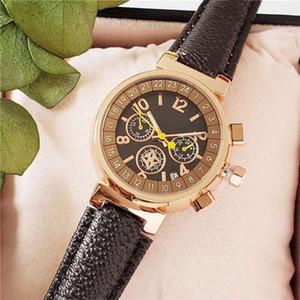 2020 Fashion Watch Top Marken-Damen Presbyopie Leder Uhr 32mm Kleine Dial-Qualitäts-Female-Quarz-Uhr