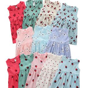 Summer Children Dresses baby Girl Sleeveless Flower Print Linen floral Dress kids Girl Spring Summer dresses for girls