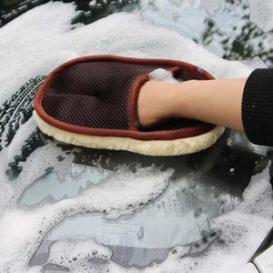 Car Styling Wool Soft Car Washing Gloves Cleaning Brush Motorcycle Washer Care Products (Retail)