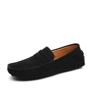 Mens echtes Leder Schuhe Loafer große Größe offizielle Schuhe sanft Mensfahrschuh lässig Komfort Atem Schuhe für Männer W59 Wildleder