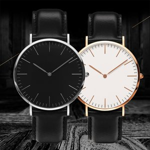Дизайнерская Casual Men Часы Top Brand Женщины платье Часы Кожа дизайнер Бизнес Кварцевые часы Мужчины Lady Наручные часы Relogio Мужчина для