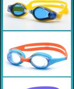alta calidad del verano Swim gogglhhgjghd454 Gafas de natación a prueba de agua y el tapón del oído anti-vaho de clip colores del marco desmontable