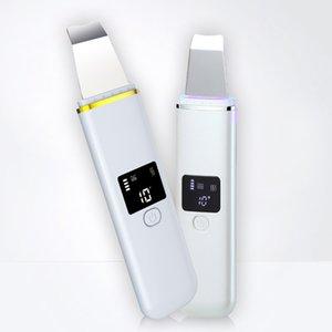 삽 피부 기계 미니 초음파 피부 스크러버 장치 스크러버 얼굴 청소는 가정용 수리 피부 관리 기계를 흡수