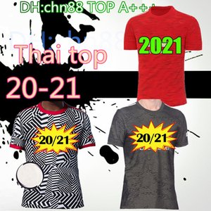 2020 2021 FC manchester Rashford B. FERNANDES maillots de football Pogba shirts en jersey de football MARTIAL unis UTD 20 homme 21 uniformes + kit enfants