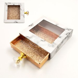8 Style Eyelash Packaging Box Marbling Square Fake 3d Mink Eyelashes Boxes Eye lash Bling Empty Package Case