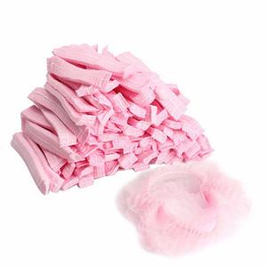 50pcs non-tissé jetables bonnets de douche plissés anti-poussière chapeau femmes hommes casquettes de bain pour spa salon de beauté accessoires