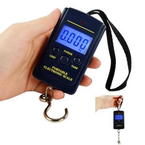 40 kg x 10g Mini Balança Digital Para Pesca bagagem do curso Ponderação portátil Hanging eletrônico OOA5607 escala gancho