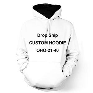 ONSEME Unisex Hoodies Manga Comprida Pullovers Cliente Personalizado Moletons Com Capuz Hoodie DIY OHO-21-40