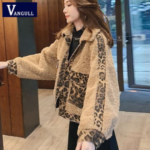 Vangull Winter Faux Fur Jacket Fashion Leopard Impliced ​​Women Fur Coat 2019 Nuovo manica lunga monopetto sciolto capispalla caldo