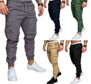 2019 foreign trade cross-border hot style men's leisure cargo multi-pocket trousers sport corset men pants