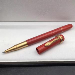 새로운 펜 헤리티지 시리즈 롤러 볼 펜 뱀 클립 편지지 사무실 쓰기 볼펜 펜 수지 펜 + 벨벳 가방을 줘