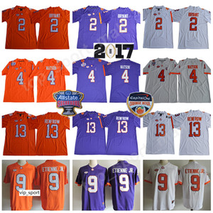 NCAA Clemson Tigers Deshaun Watson Jersey Kelly Bryant Travis Etienne Jr Hunter Renfrow College de football Patch Bol Orange Bol Sugar Bowl