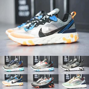 nike Epic React Element 87 Casual Shoes Hot Original Epic Undercover Respirant fil de maille Femmes Mens Free ship Taille US 5.5-11 React Element 87 A4185
