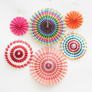 6pcs  sets of single-layer round handmade paper fan flowers wedding party layout decorations fan flowers household items