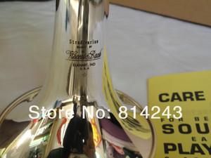 Bach LT180S-37 Marca de Calidad Bb Trompeta Latón Plateado Instrumentos Musicales Botones de Perlas Profesionales Envío Gratis Bb Trompeta