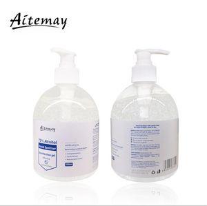 Aitemay istantaneo Hand Sanitizer 500ml di etanolo alcol Gel pelle mano Disinfezione Sapone Liquido disinfettante DHL