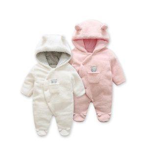Mode 2019 Frühling Baby Mantel Lamm Kaschmir Baby Pyjamas Für Neugeborene Kostüm Zwillinge Neugeborenes Baby Kleidung, Infant Mädchen Kleidung J190509