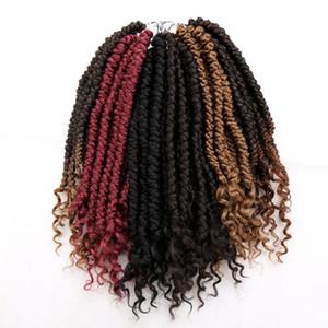 Senegalesa Primavera torção do crochet tranças do cabelo Kinky Curly termina Dreadlock Synthetic Hair Extension para a mulher de 12 polegadas 12roots / PC