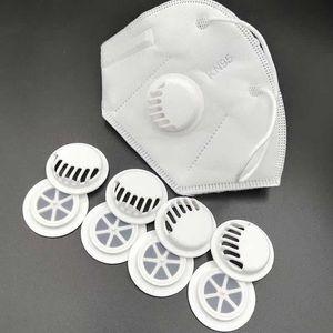 Máscara de respiração Válvula Para DIY Máscara Acessórios Homemaking One-Way escape Máscara Válvulas Preto e Branco grátis DHL