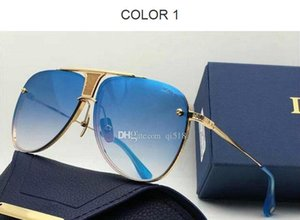 2020 New designe fashion man women sunglasses DECADE TWO square frames vintage popular style uv 400 protective outdoor eyewear With Case