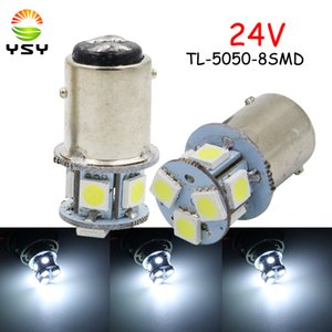 YSY 24V DC 8 SMD 1156 BA15S P21W 1157 BAY15D P21 / 5W Ded Car Brake Light Leapping Light Turn Signal White Leds 96 LM