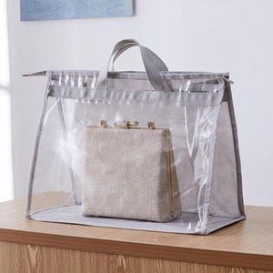 Dustproof Hanging Handbag Organizer for Wardrobe Closet Transparent Storage Bag Door Wall Clear Sundry Shoe Bag