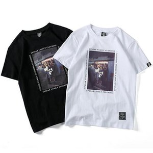 Mens Short Sleeve Summer T Shirts Letter Picture Printed Tee Black White 2 Colors Fashion T shirt S-2XL