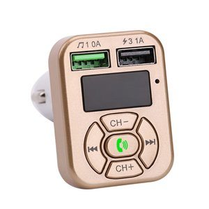 아이폰 삼성 유니버설 듀얼 USB 어댑터 Handfree MP3 플레이어 지원 TF 카드와 FM 어댑터 A9 블루투스 차량용 충전기 FM 송신기