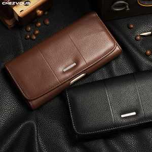 Clip ceinture étui en cuir étui pour iPhone X XS MAX XR Sac de téléphone portable universel pour iPhone 7 8 6 4s 5 Accessoires de luxe