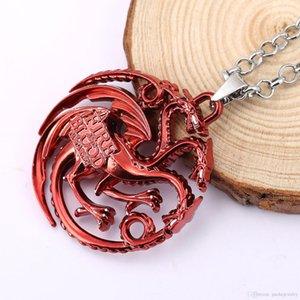 Diritti Gioco Ghiaccio e fuoco Songs collane Tangeranglian famiglia tre teste di drago collane tridimensionale collane ciondolo logo
