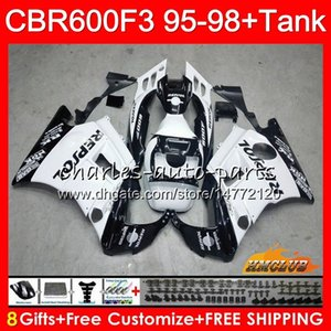 Body Tank For HONDA CBR600FS CBR600CC CBR 600 FS Repsol white 41NO.99 CBR600F3 CBR 600F3 1995 1996 1997 1998 CBR600 F3 95 96 97 98 Fairing