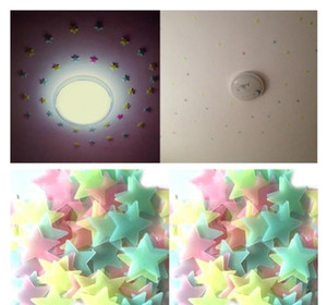 Luminous Stars Stickers Glow In The Dark Wall Stickers For Kids Room Home Decoration Decal Wallpaper Decorative
