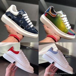 2020 With Box Designer Men Shoes Fashion Vintage Luxury Women Leather Lace Up Platform Oversized Sole Sneakers Triple White Casual Shoes