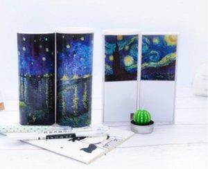 2019 Newmebox Simple Trend Creative Boîte à crayons ipen multifonctions cylindrique, Boîte à lettres, Porte-crayons pour stylos (Modèle Van Gogh)