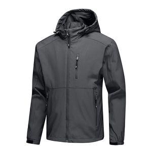 De los hombres nuevamente zip deporte chaquetas de la capa tapas ocasionales Outwear Softshell impermeable para al aire libre BFE88