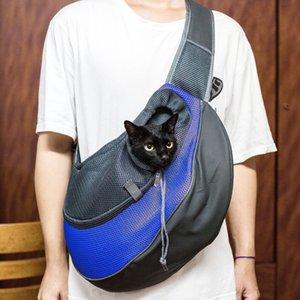 Haustier-Hund-Katze-Welpen Carrier Comfort Travel Tote-Schulter-Beutel-Riemen-Rucksack-Blau-Farbe L