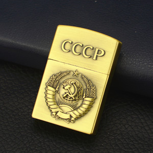 새로운 도착 CCCP 라이터 크리 에이 티브 토치 그라인딩 휠 오픈 불꽃 라이터 시가 담배 라이터 남자