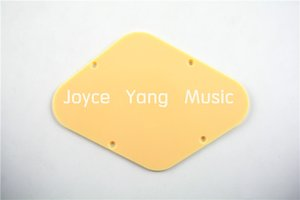 Niko 2pcs Cream Plastic Rhombus Electric Guitar Back Plates For LP Electric Guitar Pickguard Free Shipping