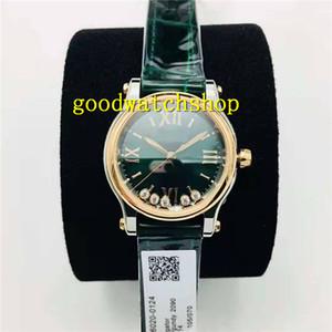 NR Fabbrica Happy Diamonds Sport Lady Orologi Diamante Ladies Watch cal. 2892 28800 automatico VPH cristallo di zaffiro Italia cinturino in pelle