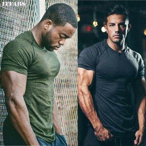 Homens camisetas Verão Esportes executando Top Tees Mens roupa de manga curta Casual algodão O Pescoço da aptidão camiseta Sportwear
