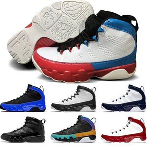 Nike Air Jordan 9 Zapatos de diseño 9 Racer azul baloncesto de los hombres 9s Gimnasio Rojo UNC Sóñelo lo hacen Space Jam deportes del Mens zapatillas de Formadores