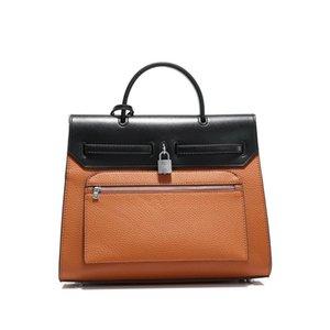 Totes H K Litchi Women Designer Purse Pu Pattern Women Designer-Handbags Tote Fashion Purses Leather Bag #231 Rruci