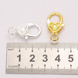 10pcs lot 26x15MM Lobster Clasp Hooks Necklace Bracelet Chain DIY Jewelry Accessory Findings Supplies For Jewelry Wholesale