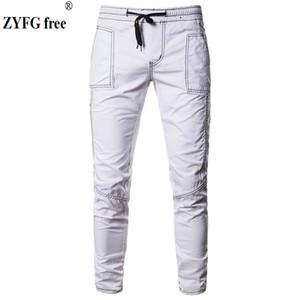 ZYFG Pantalones libres hombres nuevos 2018 Pantalones casuales para hombre pantalones masculinos hombre largo recto color sólido tallas grandes pantalón casual S-XXL