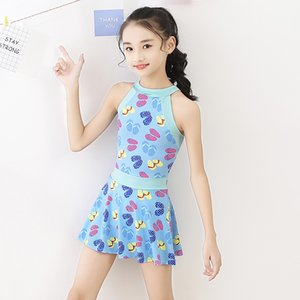 Baby Girls Swimsuits Cute Printed One Pieces Swimwear Hot Spring Children Beach Swim Skirt Suits Kids Bathing Suits for Girls
